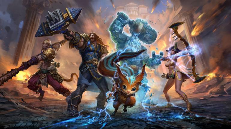 Арт-изображение игры Smite с персонажами