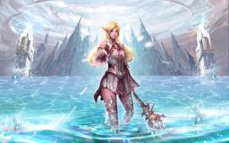 Арт-изображение игры LineAge 2 с эльфийкой