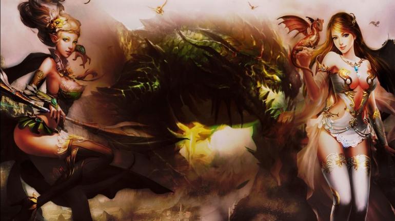 Арт-изображение игры Hunter Online в стиле логотипа