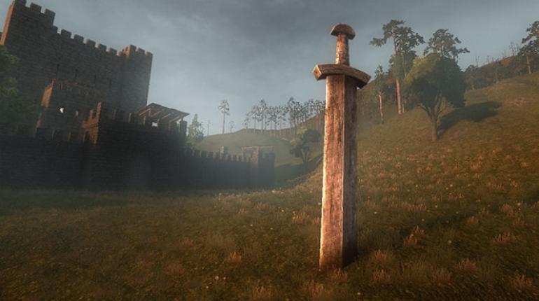 Скриншот Life is Feudal  с мечем в земле