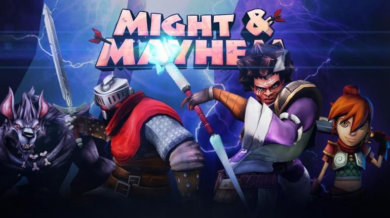Логотип игры Might and Mayhem