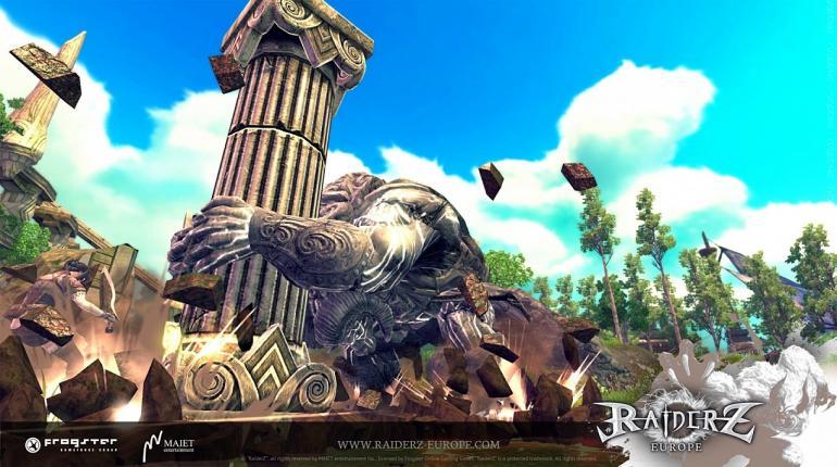 Логотип игры RaiderZ с разными персонажами