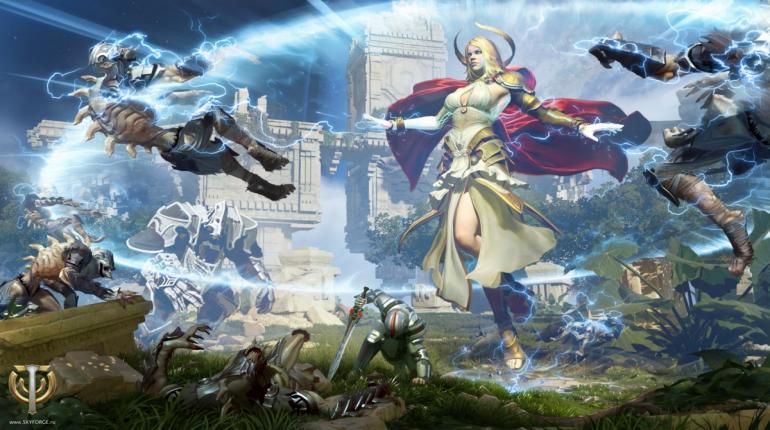 Арт-изображение игры SkyForge с богом
