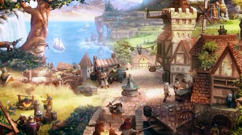 Арт-скриншот из игры Therian Saga с изображением города