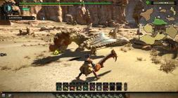 Скриншот во время сражения Monster Hunter Online