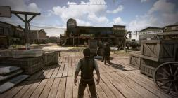 Персонаж в городе в Wild West Online