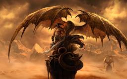 Арт-изображение игры Драконы Вечности с драконом