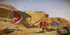 Скриншот с подземным змеем из Monster Hunter Online