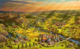 Скриншот города из игры Settlers Online