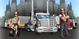 Логотип игры Truck Nation с грузовиком